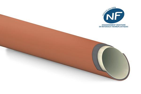 Tube Tripplo+ pour assainissement gravitaire certifié à la marque NF